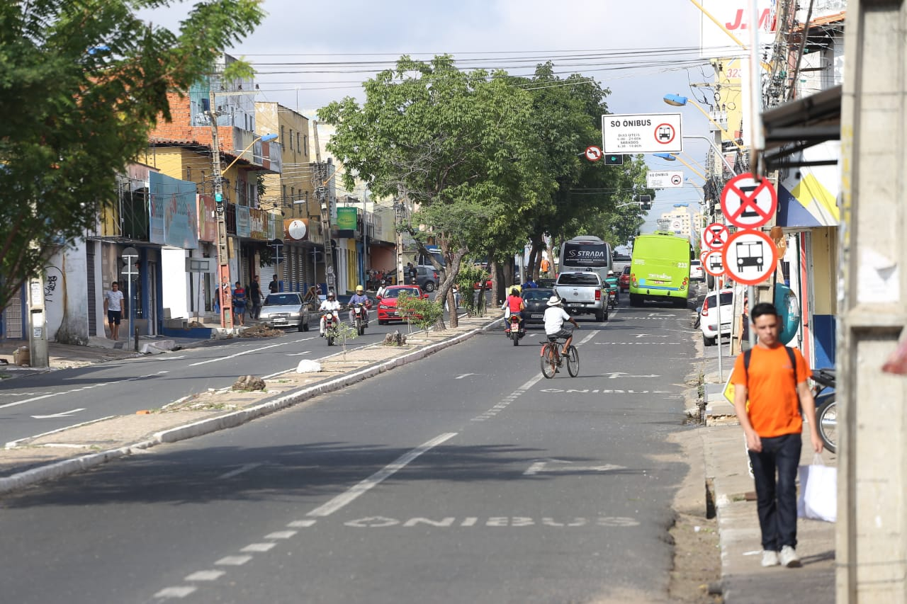 Avenida de Teresina, a capital do Piauí