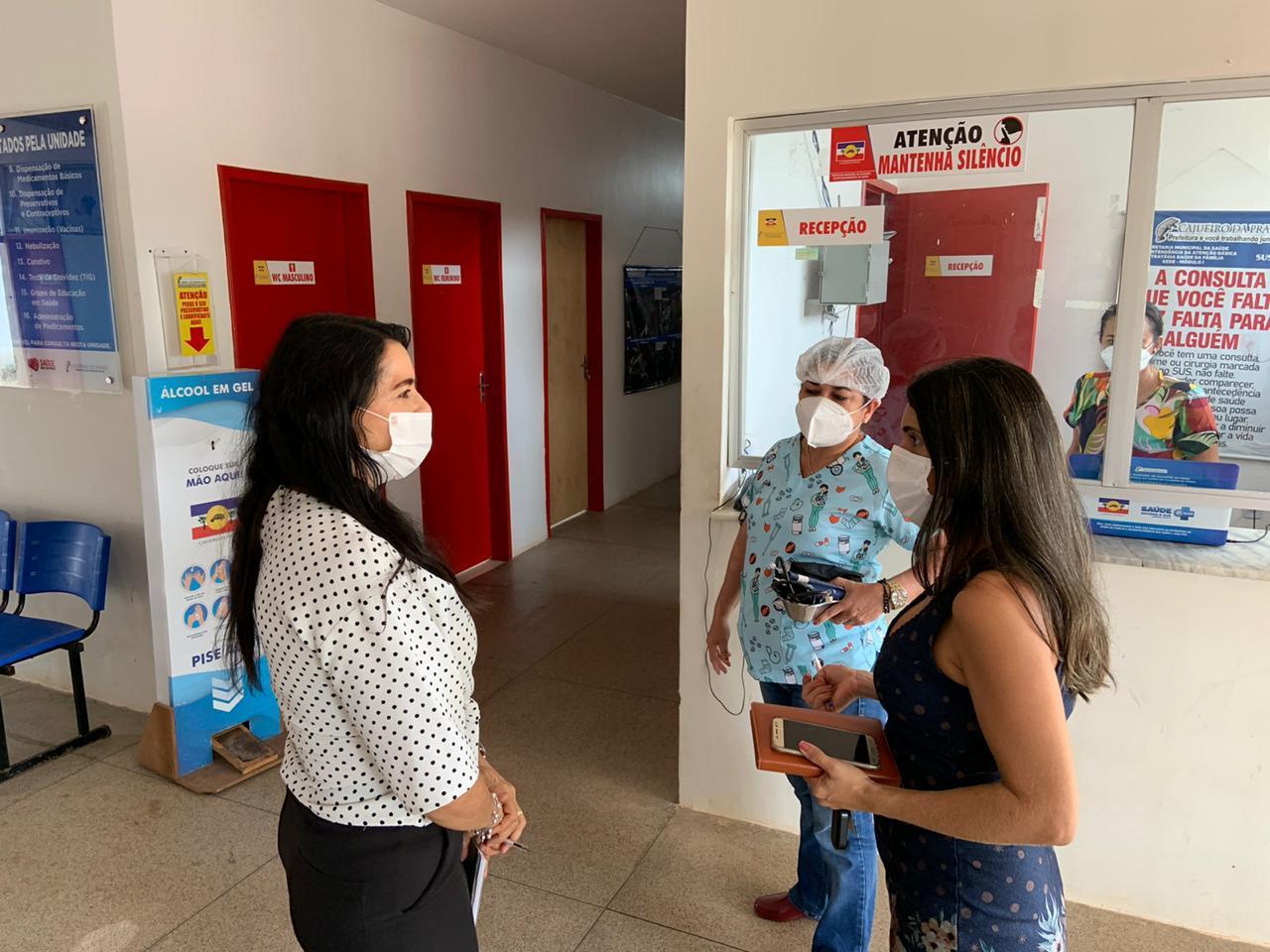 Teresa Britto fez uma vistoria na casa de saúde